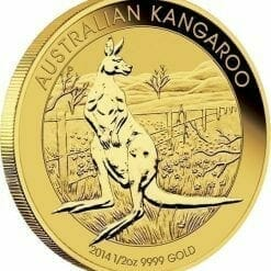 2014 Australian Kangaroo 1/2oz Gold Bullion Coin 4