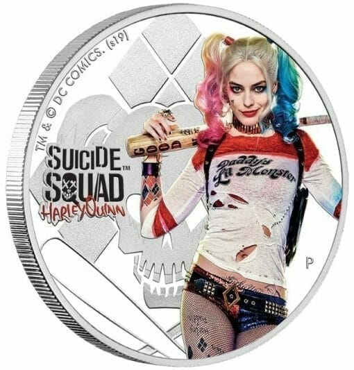 2019 Suicide Squad - Harley Quinn 1oz .9999 Silver Proof Coin 3