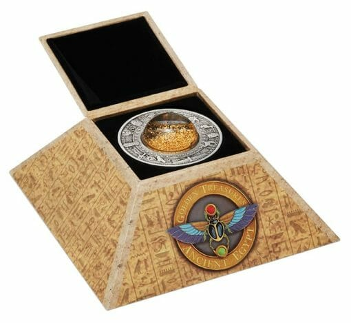 2019 Golden Treasures of Ancient Egypt 2oz .9999 Silver Antiqued Coin 5