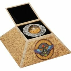 2019 Golden Treasures of Ancient Egypt 2oz .9999 Silver Antiqued Coin 11