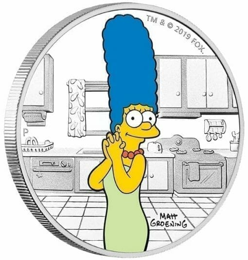 2019 The Simpsons - Marge Simpson 1oz .9999 Silver Proof Coin 3