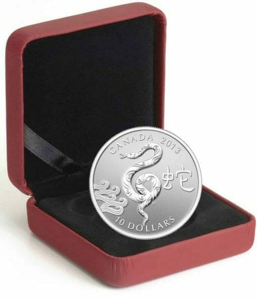 2013 Year of the Snake $10 1/2oz .9999 Silver Proof Coin 3