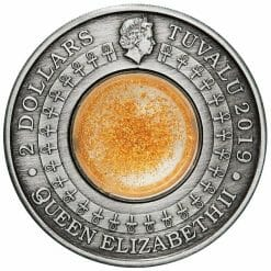 2019 Golden Treasures of Ancient Egypt 2oz .9999 Silver Antiqued Coin 9