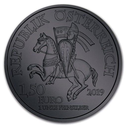 2019 Anniversary of Duke Leopold V Burning Blade - Black Ruthenium 1oz .999 Silver Coin 3