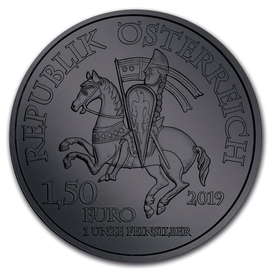 2019 Anniversary of Duke Leopold V Burning Blade - Black Ruthenium 1oz .999 Silver Coin 5