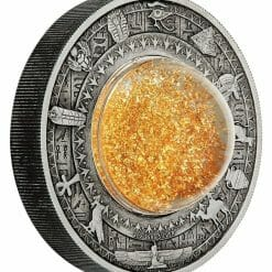 2019 Golden Treasures of Ancient Egypt 2oz .9999 Silver Antiqued Coin 8