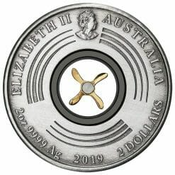 2019 100th Anniversary of the First Flight England to Australia 2oz Silver Antiqued Coin 8
