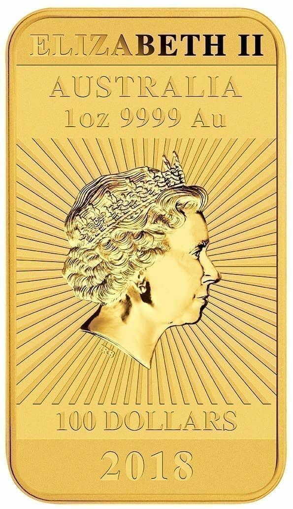 2018 Dragon 1oz .9999 Gold Bullion Rectangular Coin 3