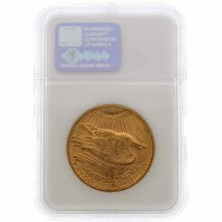 1909 S Saint Gaudens Double Eagle Gold Coin - $20 - NGC MS 62 9