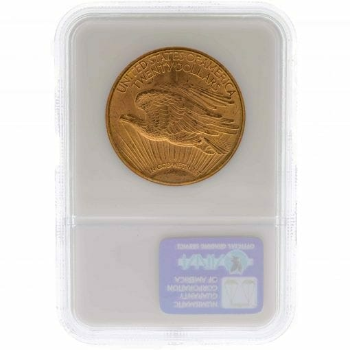 1909 S Saint Gaudens Double Eagle Gold Coin - $20 - NGC MS 62 4