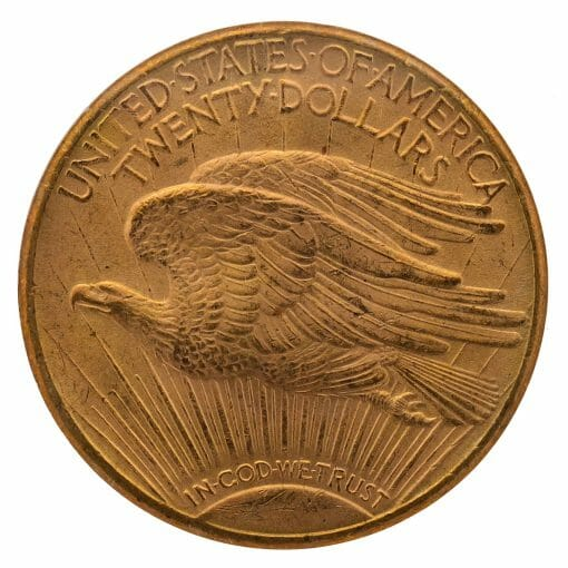 1909 S Saint Gaudens Double Eagle Gold Coin - $20 - NGC MS 62 2