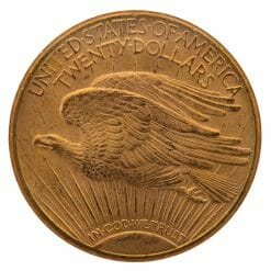 1909 S Saint Gaudens Double Eagle Gold Coin - $20 - NGC MS 62 6