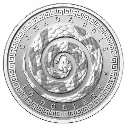 2013 Year of the Snake (Chinese Character) $10 1/2oz .9999 Silver Proof Coin 1