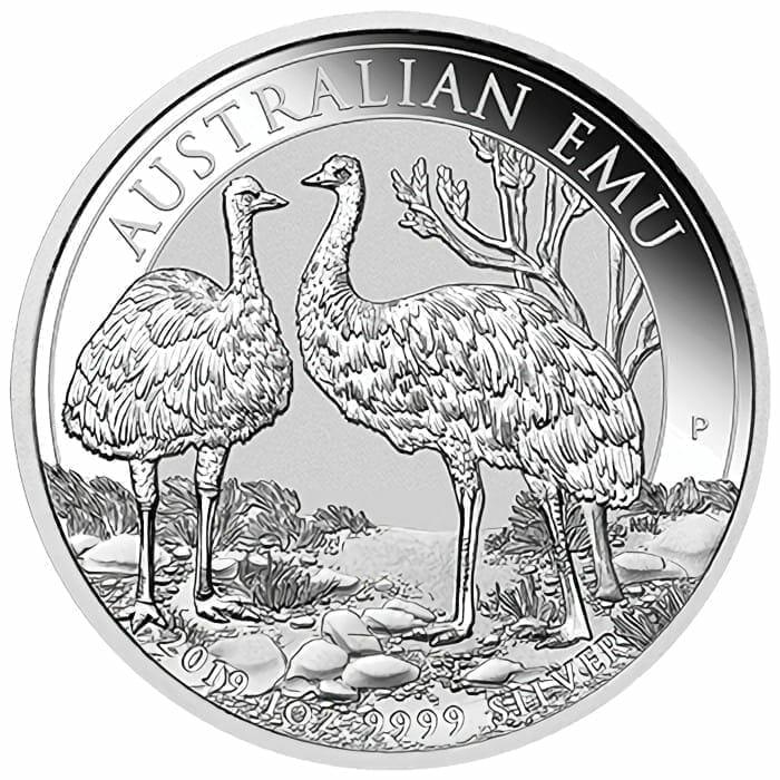 2019 Australian Emu 1oz .9999 Silver Bullion Coin 1