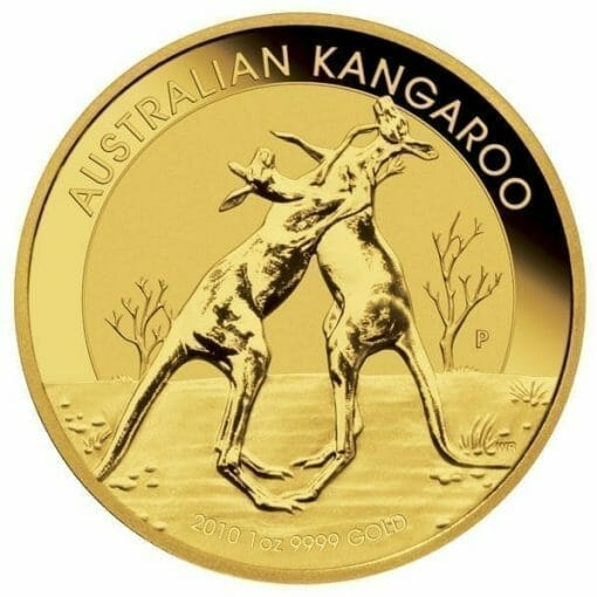 2010 Australian Kangaroo 1oz .9999 Gold Bullion Coin 1