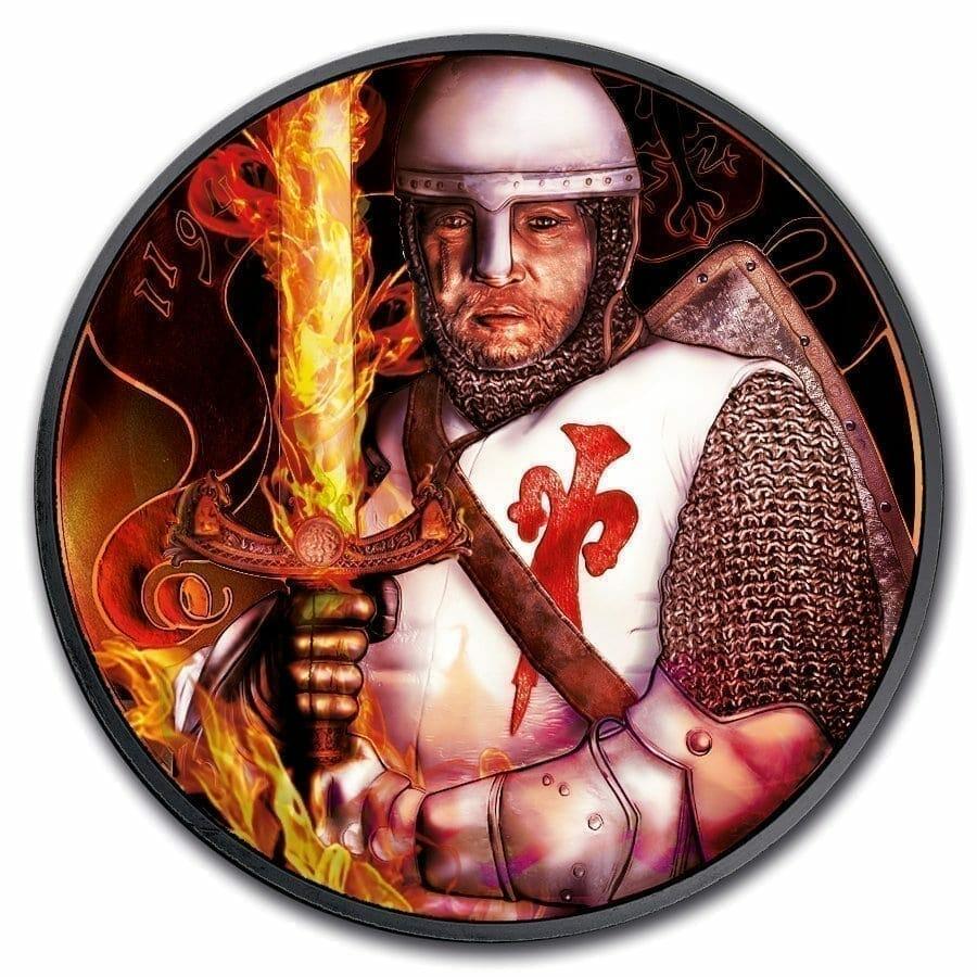 2019 Anniversary of Duke Leopold V Burning Blade - Black Ruthenium 1oz .999 Silver Coin 1