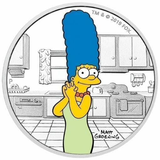 2019 The Simpsons - Marge Simpson 1oz .9999 Silver Proof Coin 1