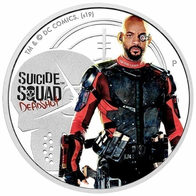 2019 Suicide Squad - Deadshot 1oz .9999 Silver Proof Coin 1
