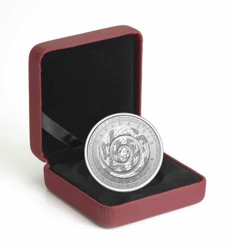 2013 Year of the Snake (Chinese Character) $10 1/2oz .9999 Silver Proof Coin 3