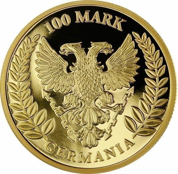 2019 Germania 100 Mark 1oz Gold Proof Coin - CoA 88/100 4