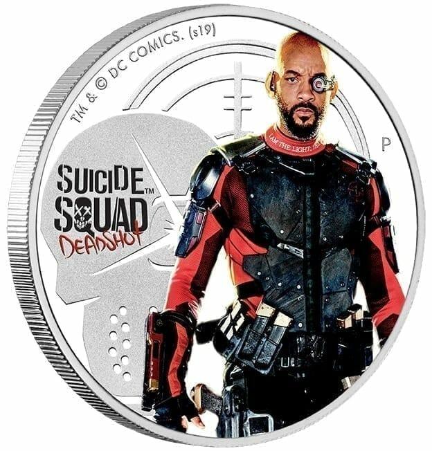 2019 Suicide Squad - Deadshot 1oz .9999 Silver Proof Coin 6