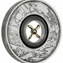 2019 100th Anniversary of the First Flight England to Australia 2oz Silver Antiqued Coin 6