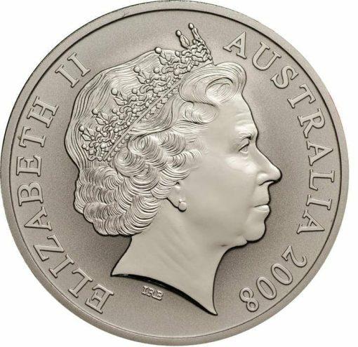 2008 Red Mombassa Kangaroo 1oz 999 Silver Proof Coin 2