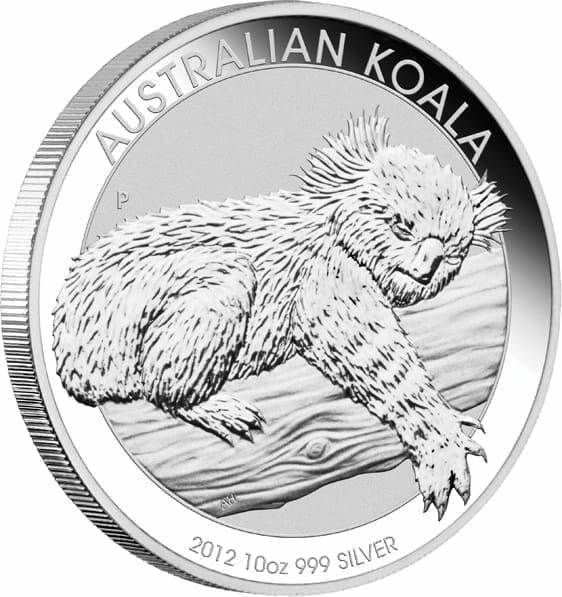 2012 Australian Koala 10oz .999 Silver Bullion Coin 5