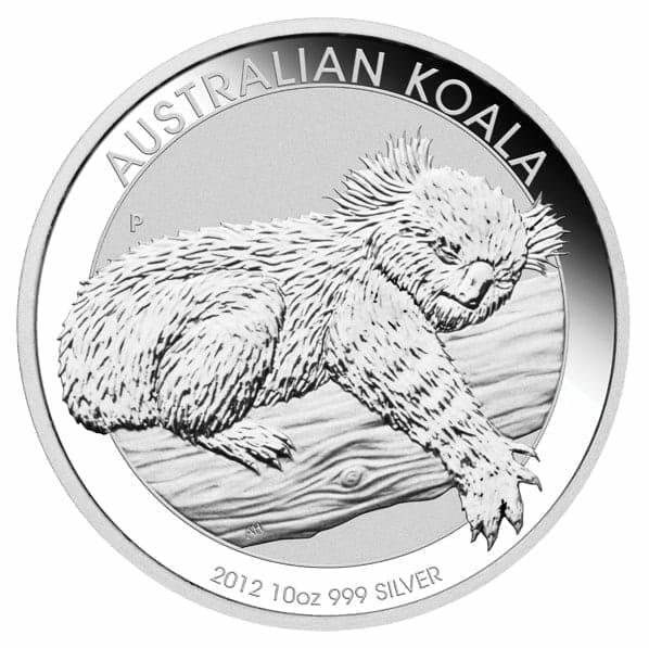 2012 Australian Koala 10oz .999 Silver Bullion Coin 1