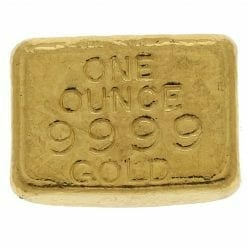 Adelaide Exchange 1oz .9999 Gold Cast Bullion Bar 3