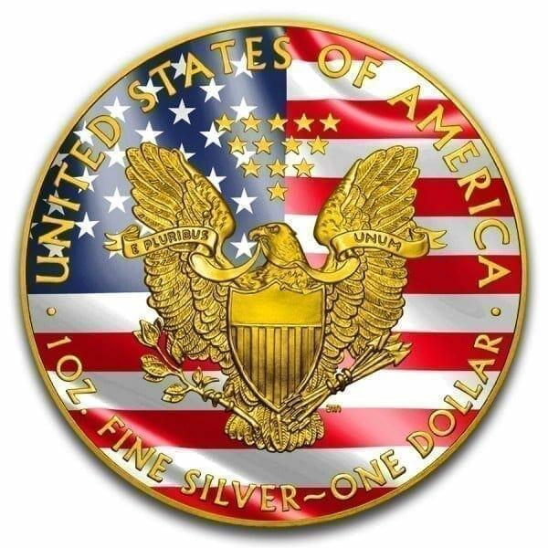 2019 Veterans Affairs American Silver Eagle Coloured 1oz .999 Silver Coin 3