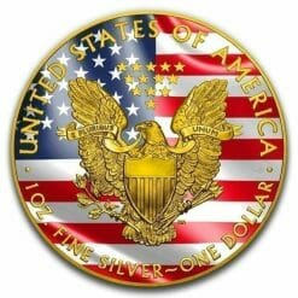 2019 Veterans Affairs American Silver Eagle Coloured 1oz .999 Silver Coin 5