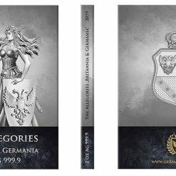 2019 The Allegories - Britannia & Germania 2oz .9999 Silver Coin 6