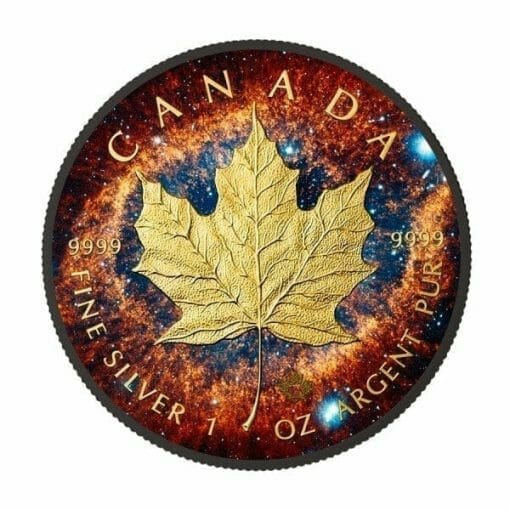 2016 Helix Nebula - Maple Leaf 1oz .9999 Silver Coin with Ruthenium 1