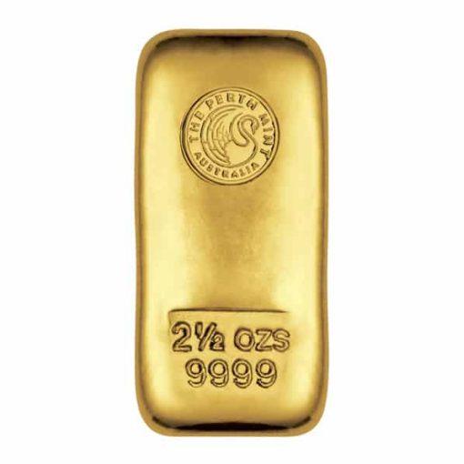 Perth Mint 2.5oz .9999 Gold Cast Bullion Bar 1