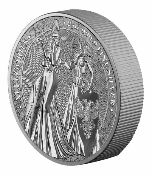 2019 The Allegories - Britannia & Germania 2oz .9999 Silver Coin 4