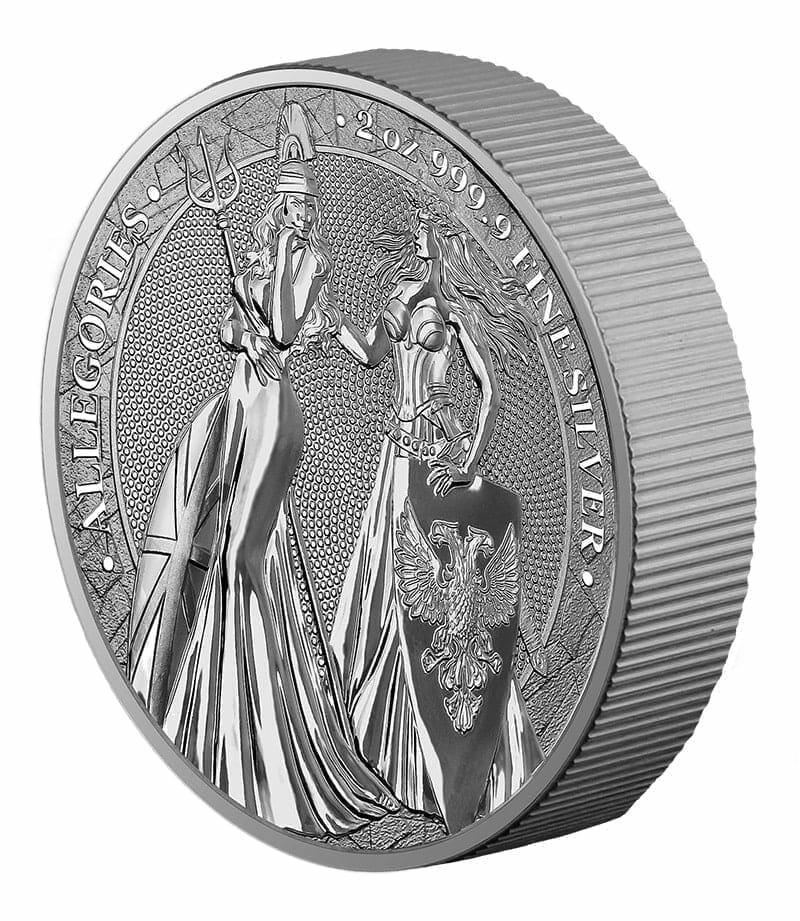 2019 The Allegories - Britannia & Germania 2oz .9999 Silver Coin 4
