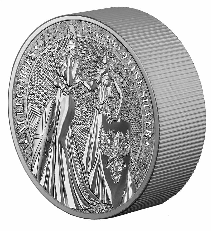 2019 The Allegories - Britannia & Germania 5oz .9999 Silver Coin 4