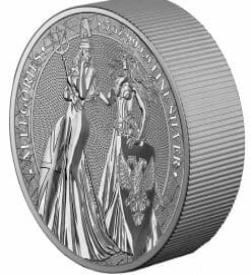 2019 The Allegories - Britannia & Germania 5oz .9999 Silver Coin 7