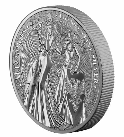 2019 The Allegories - Britannia & Germania 1oz .9999 Silver Bullion Coin 3