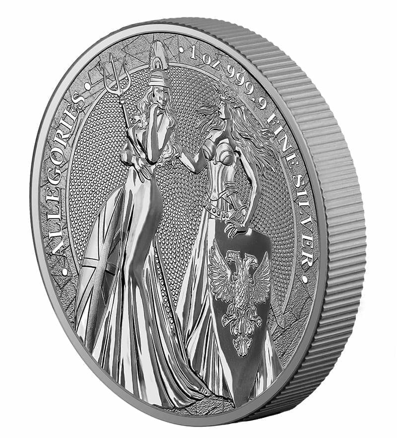 2019 The Allegories - Britannia & Germania 1oz .9999 Silver Bullion Coin 3