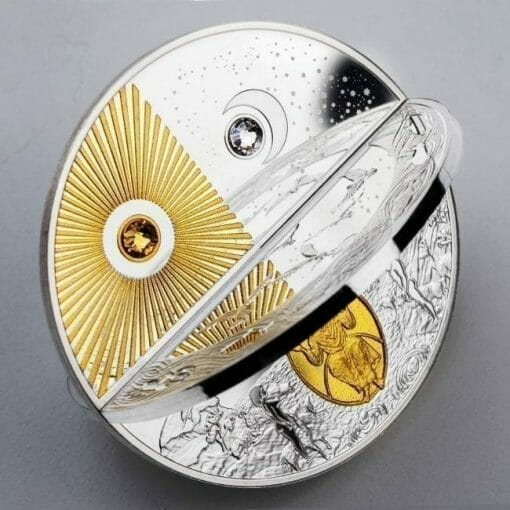 2019 Creation of the World 3D 2oz .999 Silver Proof Coin 4