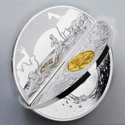 2019 Creation of the World 3D 2oz .999 Silver Proof Coin 5