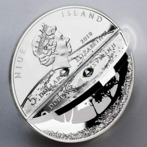 2019 Creation of the World 3D 2oz .999 Silver Proof Coin 3