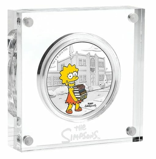2019 The Simpsons - Lisa Simpson 1oz .9999 Silver Proof Coin 3