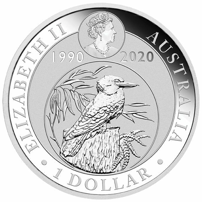 2020 Australian Kookaburra 1oz .9999 Silver Bullion Coin - 30th Anniversary 3