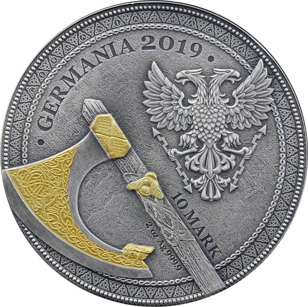 2019 The Warriors - Berserk 2oz .9999 High Relief Silver Coin 5
