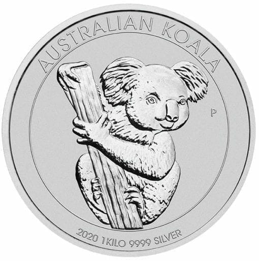 2020 Australian Koala 1kg .9999 Silver Bullion Coin 1