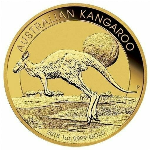 2015 Australian Kangaroo 1oz .9999 Gold Bullion Coin 1