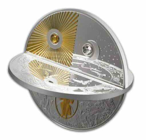 2019 Creation of the World 3D 2oz .999 Silver Proof Coin 1